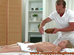Masseur and client making love