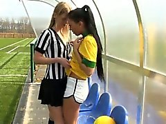 Brazilian player tearing up the referee