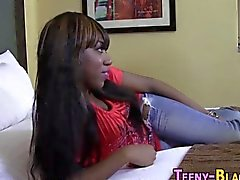 Black teen pov sucks dick