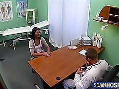 Sexy brunette fucked by the doctor