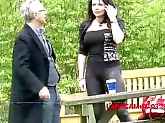 Sexy milf brunette secretary does old dude jim